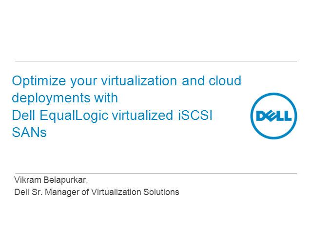 Accelerate Virtualization Success with Dell & VMware