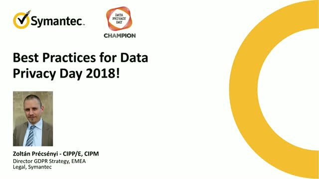 Best Practices for Data Privacy Day 2018