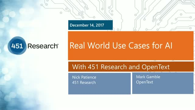 Real World Use Cases for AI