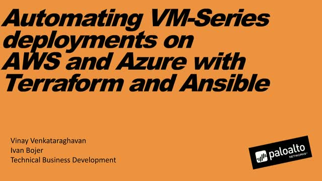 Automating VM-Series deployments on AWS and Azure with Terraform and Ansible