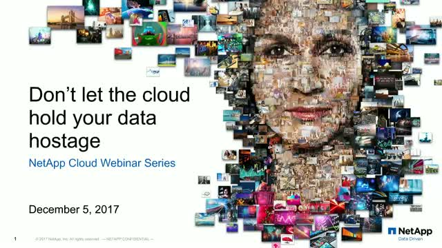Don't Let the Cloud Hold Your Data Hostage