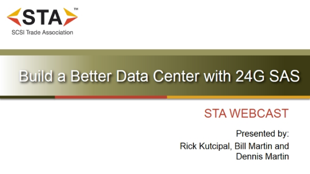 Build a Better Data Center with 24G SAS