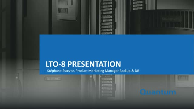 New Product Release: LTO-8—The New Enterprise Tape Drive