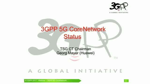 3GPP 5G Core Network Status