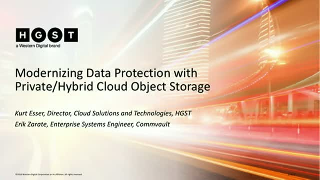 Modernizing Data Protection with Hybrid Cloud Object Storage