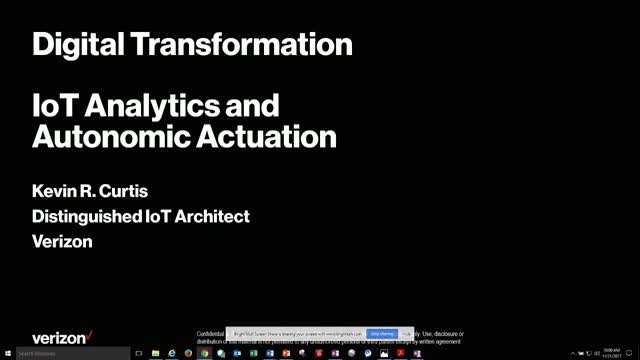 Digital Transformation Enablers: IoT Analytics and Autonomic Actuation