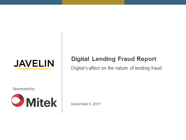 2017 Digital Lending Fraud Report