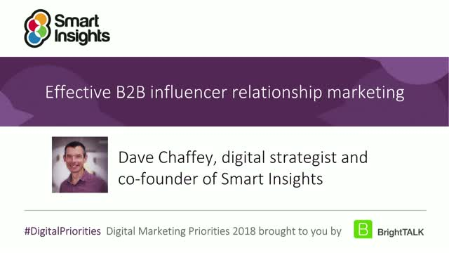 Effective B2B influencer relationship marketing