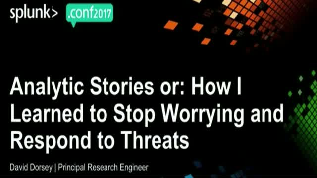 Analytic Stories or How I Learned to Stop Worrying and Respond to Threats