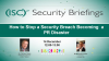 How to Stop a Security Breach Becoming a PR Disaster
