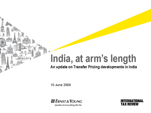 India, at arm's length; Transfer Pricing Developments in India