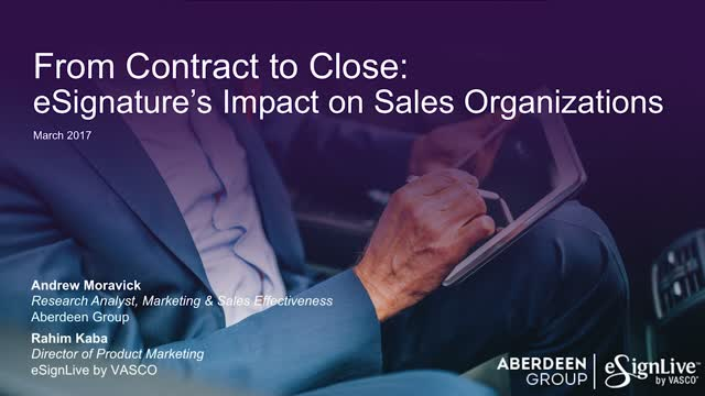 Webcast: From Contract to Close: eSignature's Impact on Sales Organizations