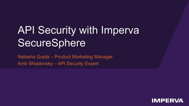 Tech Demo: API Security with Imperva SecureSphere
