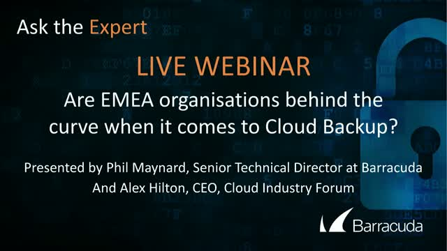 Are EMEA organizations behind the curve, developing their Cloud Backup Strategy?