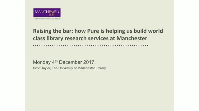 Raising the bar: Building world class library research services with Pure