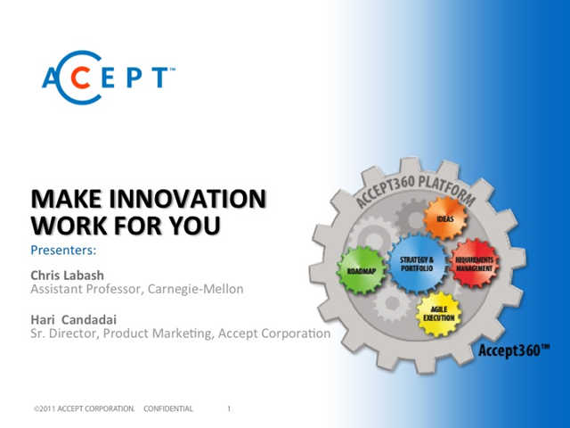 Make Product Innovation Work for You
