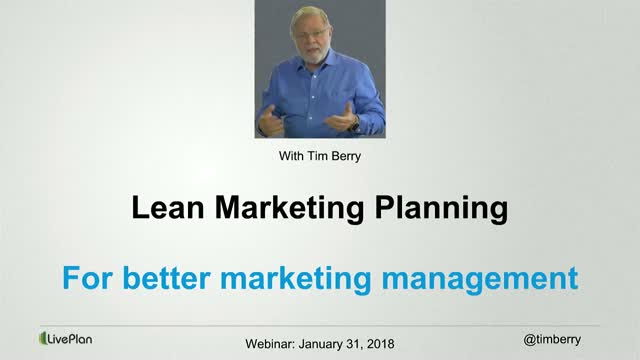 Lean Marketing Planning for Power, Ease of Use, and Accountability