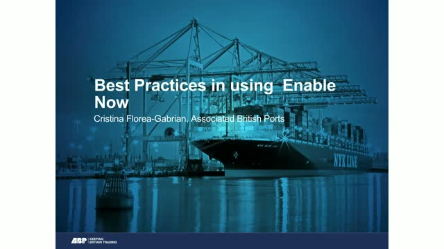 Enable Now Community: Cristina Florea-Gabrian at ABP shares best practice