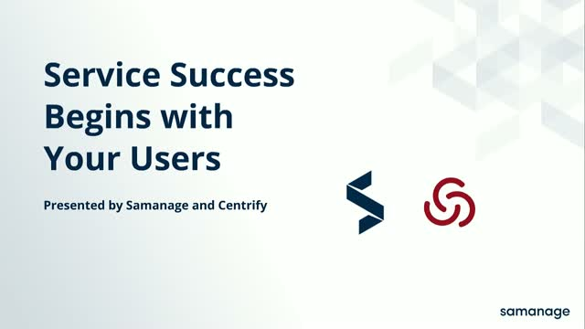 Service Success Begins with Your Users