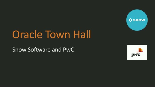 Oracle Town Hall