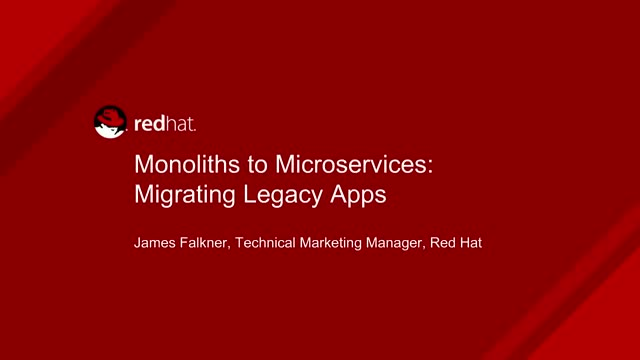 Monoliths to Microservices: Migrating Legacy Apps