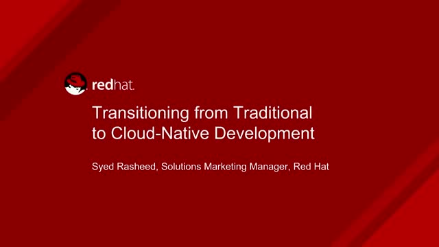 Transitioning from Traditional to Cloud-Native Development