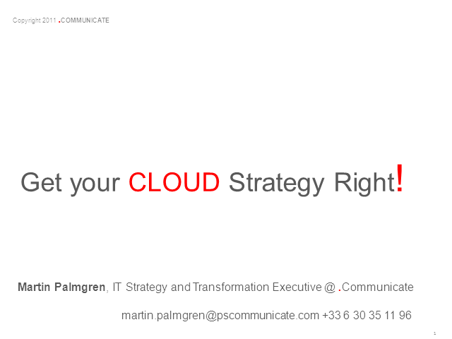 Get Your Cloud Strategy Right!