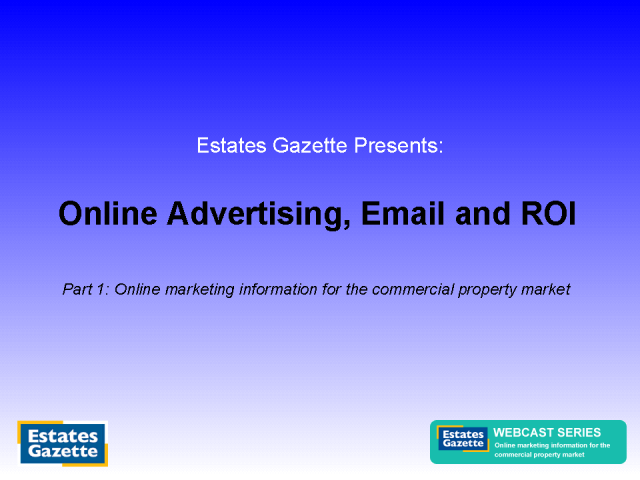 Online advertising, email marketing and measuring ROI