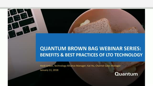 Quantum Brown Bag Webinar Series for Video Surveillance: LTO Tape Technology