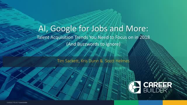 AI, Google for Jobs and More: TA Trends You Need to Focus on in 2018