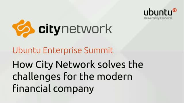 How City Network solves the challenges for the modern financial company