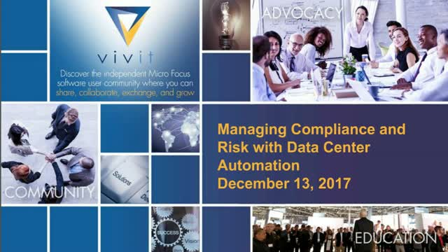 Managing compliance and risk with Data Center Automation