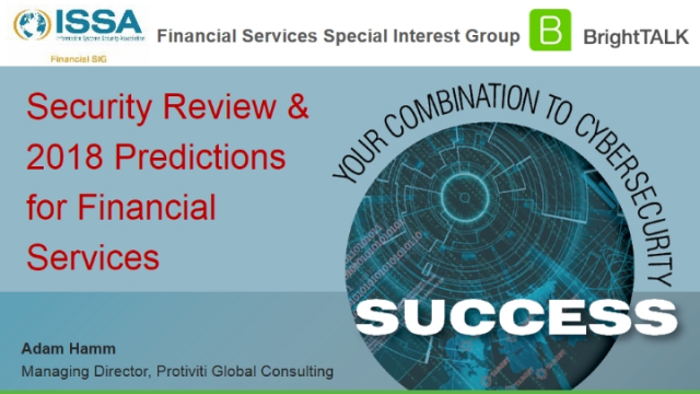 Security Review & 2018 Predictions for Financial Services