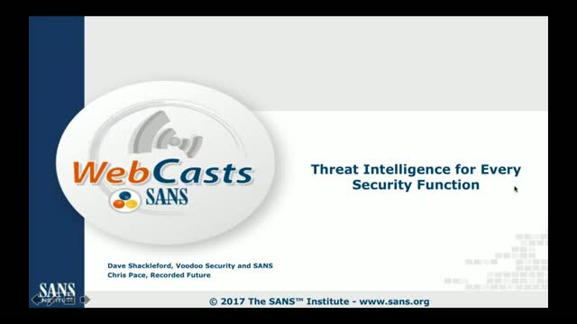 Threat Intelligence for Every Security Function