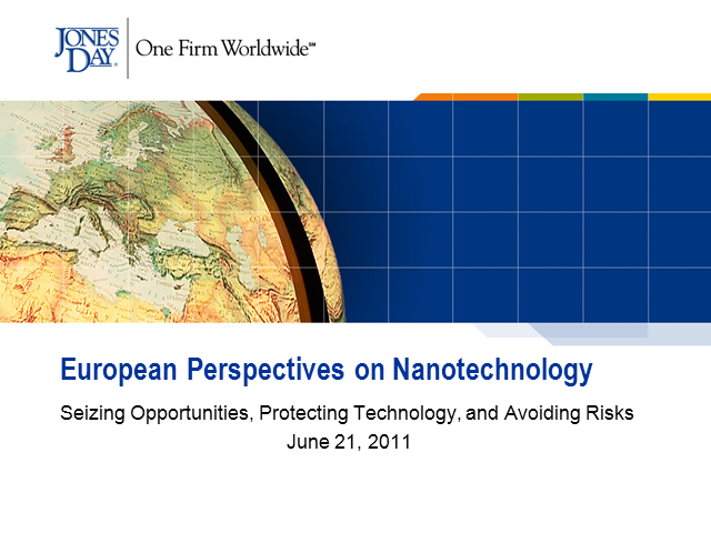 European Perspectives on Nanotechnology