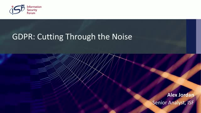 GDPR: Cutting Through the Noise