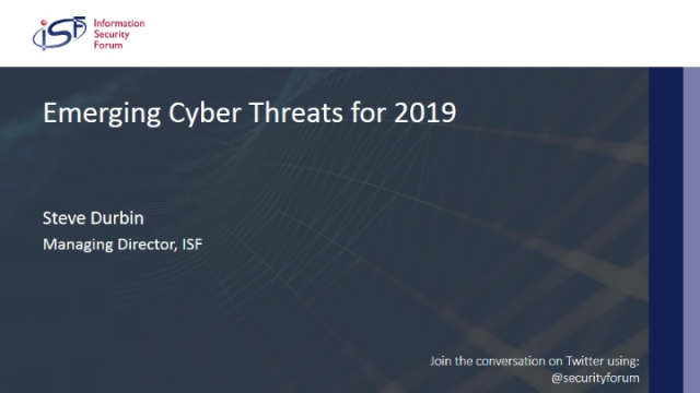 Emerging Cyber Threats for 2019