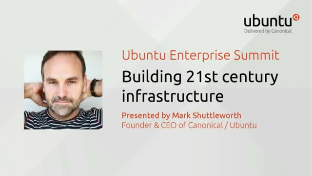 [Live Keynote]: Building 21st century infrastructure