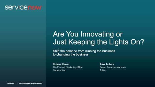 Are You Innovating or Just Keeping the Lights On?