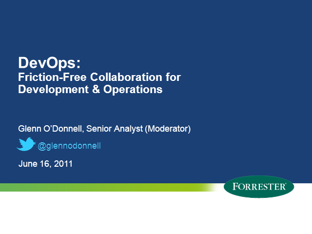 DevOps: Friction-Free Collaboration for Development & Operations
