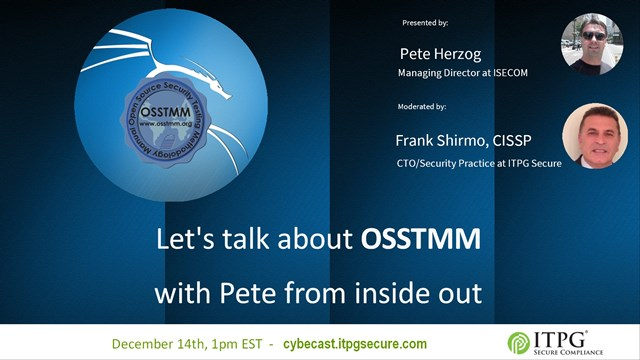 Let's talk about OSSTMM with Pete Herzog from inside out
