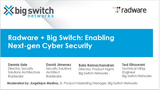 Radware + Big Switch Networks: Enabling Next-gen Cyber Security