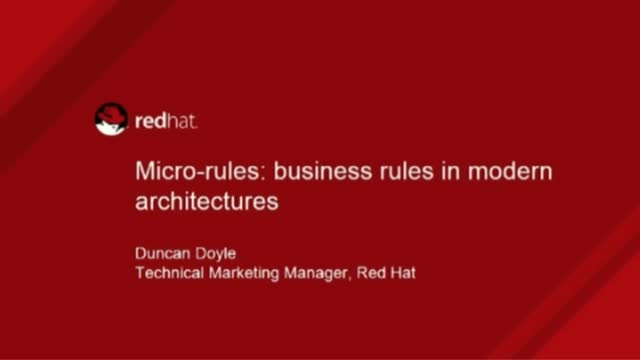 Micro-Rules and Microservices: Business Rules in Modern Architectures