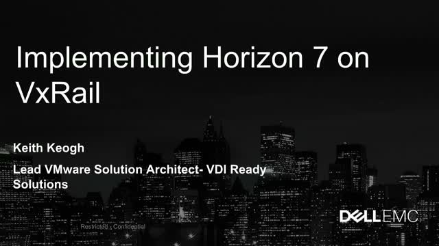 VDI with VxRail for VMware Horizon