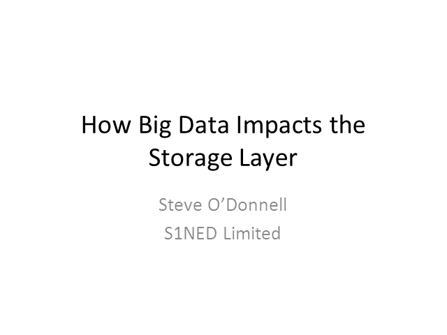 How Big Data is Transforming the Storage Layer