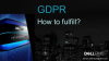 GDPR – how technology can help meet the requirements