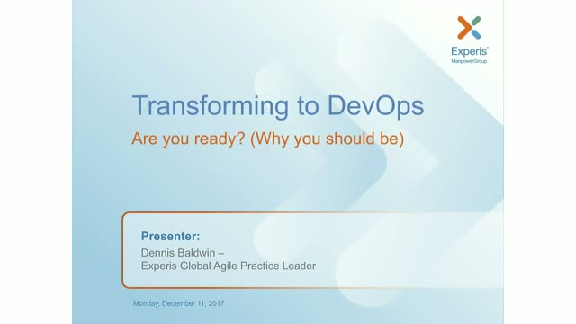Transforming to DevOps: Are You Ready? (Why You Should Be)