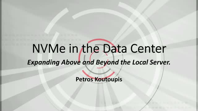 NVMe in the Data Center: How to Expand Above and Beyond your Local Server