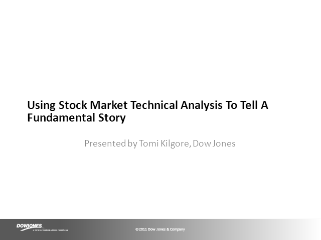 Using Stock Market Technical Analysis To Tell A Fundamental Story