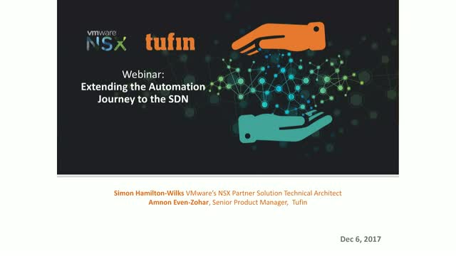 VMware and Tufin: Extending the Automation Journey to the SDN